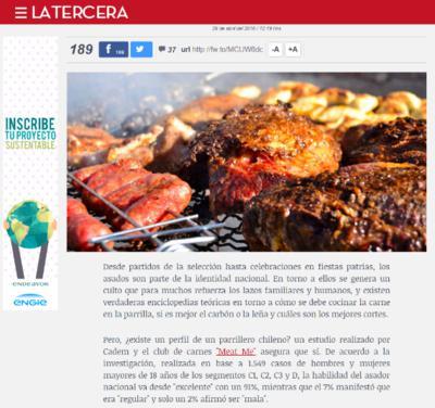 MeatMe en La Tercera